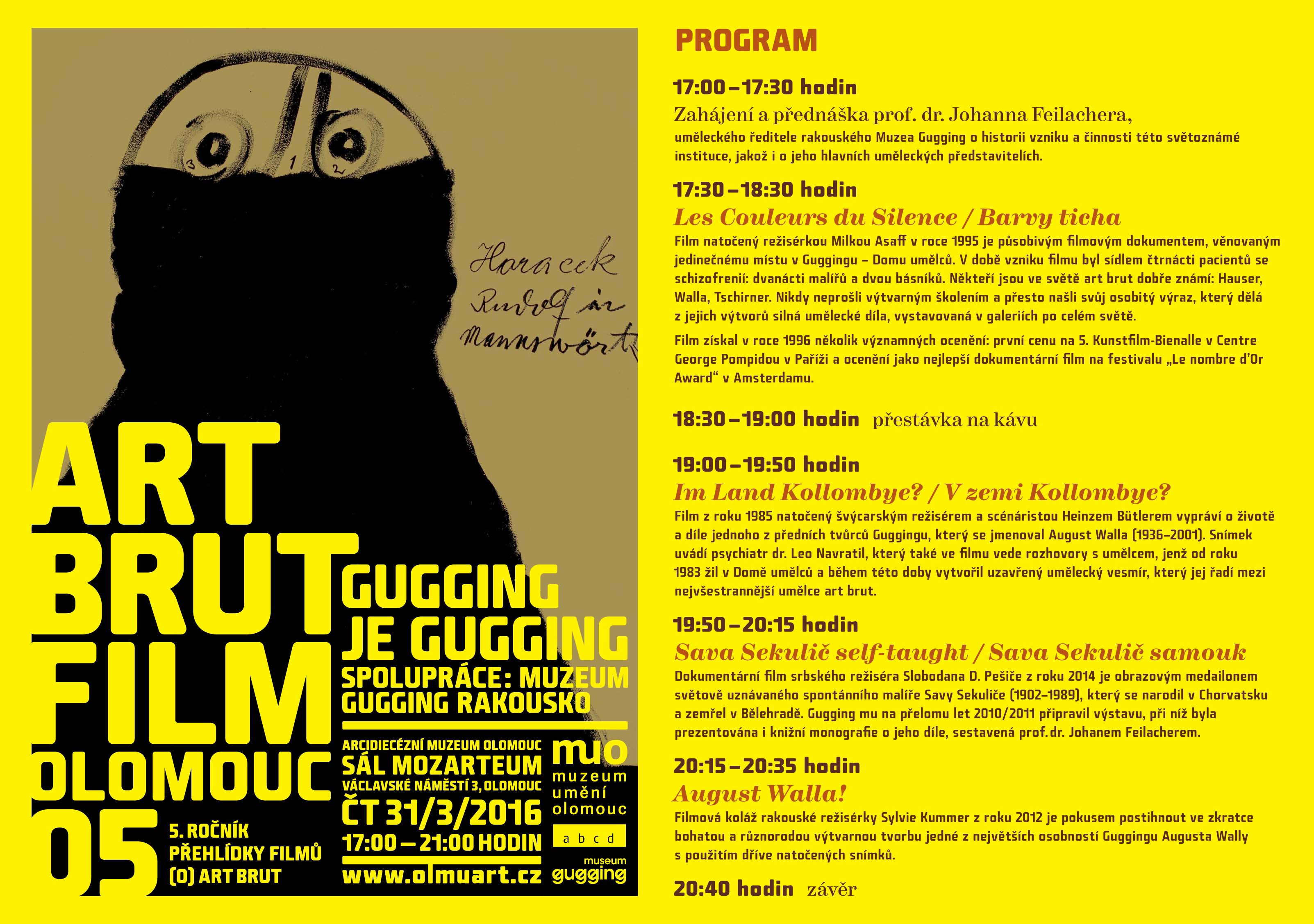 Art Brut Film 2016, program